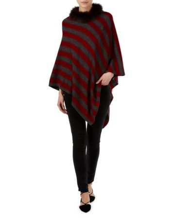Poncho Neck Fur Edge 4 04d