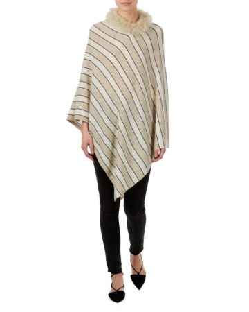 Poncho Neck Fur Edge 5 04a
