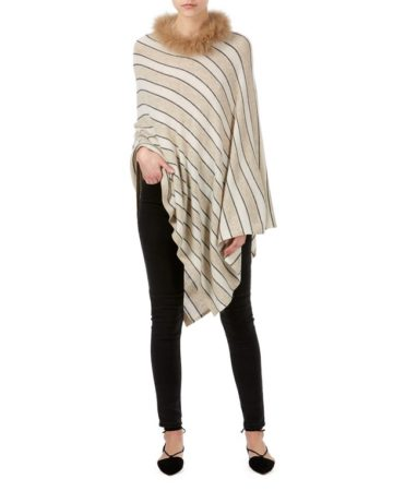 Poncho Neck Fur Edge 9 04a