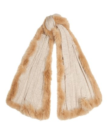 Scarf Plain Fur Edge 2 01b