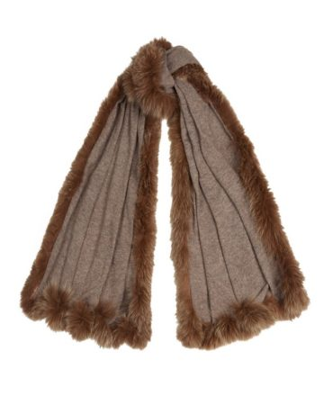 Scarf Plain Fur Edge 4 01b