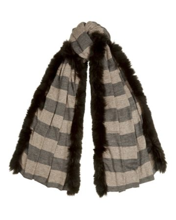 Scarf Stripe Fur Edge 1 01