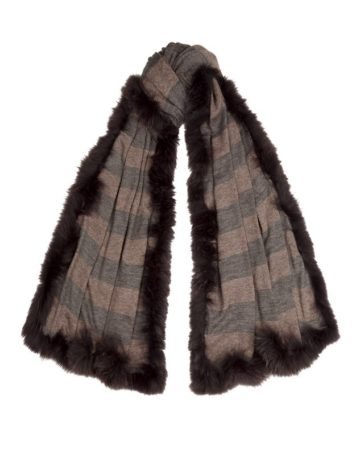 Scarf Stripe Fur Edge 3 01b