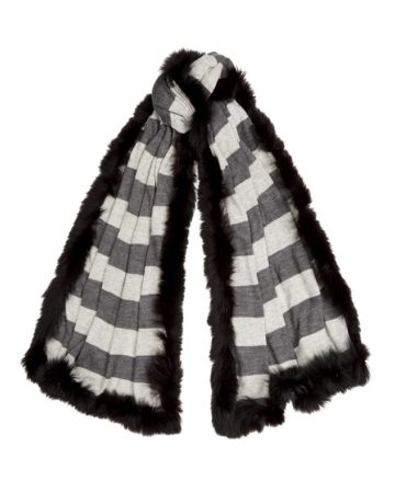 Scarf Stripe Fur Edge 5 01