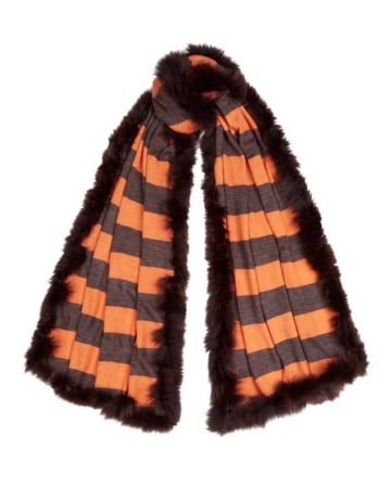 Scarf Stripe Fur Edge 6 01a