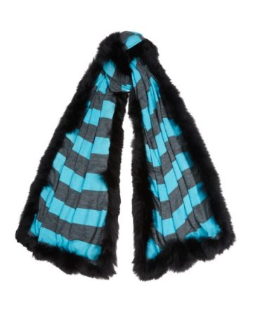 Scarf Stripe Fur Edge 7 01