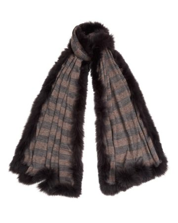 Scarf Stripe Fur Edge 8 01