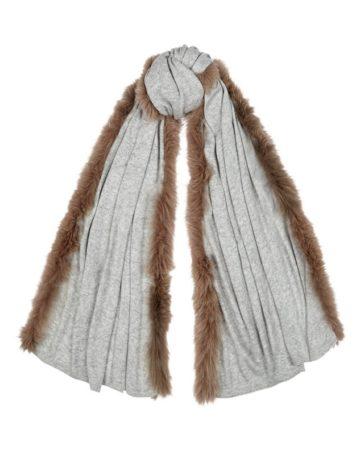 Scarf plain fur edge 3 01